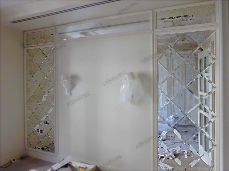зеркальное панно в интерьере фото